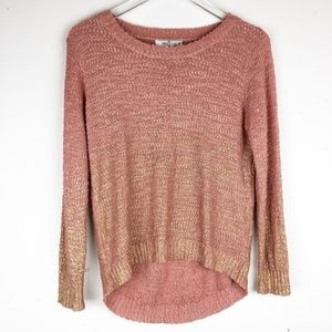 Grifflin Crew Neck Sweater Gold And Peach